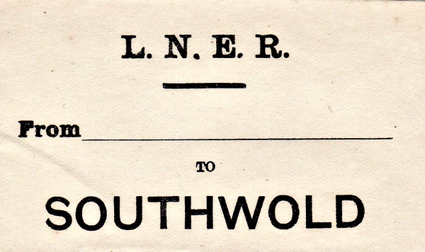 LNER LUGGAGE LABEL - SOUTHWOLD.