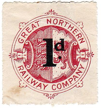 RAILWAY NEWSPAPER STAMP - GREAT NORTHERN RAILWAY - 1d newspaper stamp.