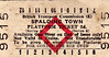 BRITISH RAILWAYS TICKET - SPALDING TOWN - Platform Ticket, fare 2d.