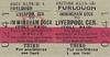 BRITISH RAILWAYS TICKET - IMMINGHAM DOCK to LIVERPOOL CENTRAL - Third Class Furlough Monthly Return to Liverpool Central via Hull Corporation Pier, Fallowfield and Sheffield Victoria. I don't quite understand the routing here unless there was a steamer service from Immingham to Hull.