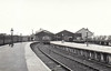 YARMOUTH VAUXHALL STATION - this was the GER terminus from Norwich, one of 3 in Great Yarmouth, opened in 1844 - with closure of the other two termini, this station is now just known as Great Yarmouth - seen here in March 1958 - note vintage passenger stock stabled in the platforms.