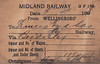MIDLAND RAILWAY WAGON LABEL - WELLINGBOROUGH TO BORDESLEY - On April 5th, 1898, wagon no.10844 was dispatched to Princes Road Sidings, Bordesley, on the GWR consigned to a Mr H Smith.