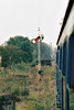 COTTESMORE - Midland Railway pattern home signal on the Rutland Railway Museum, 14/10/01.