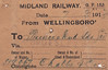 MIDLAND RAILWAY WAGON LABEL - WELLINGBOROUGH TO BORDESLEY - On March 7th, 1913, wagon no.49067 was dispatched to Princes Road Sidings, Bordesley, on the GWR consigned to C Lathe & Co.
