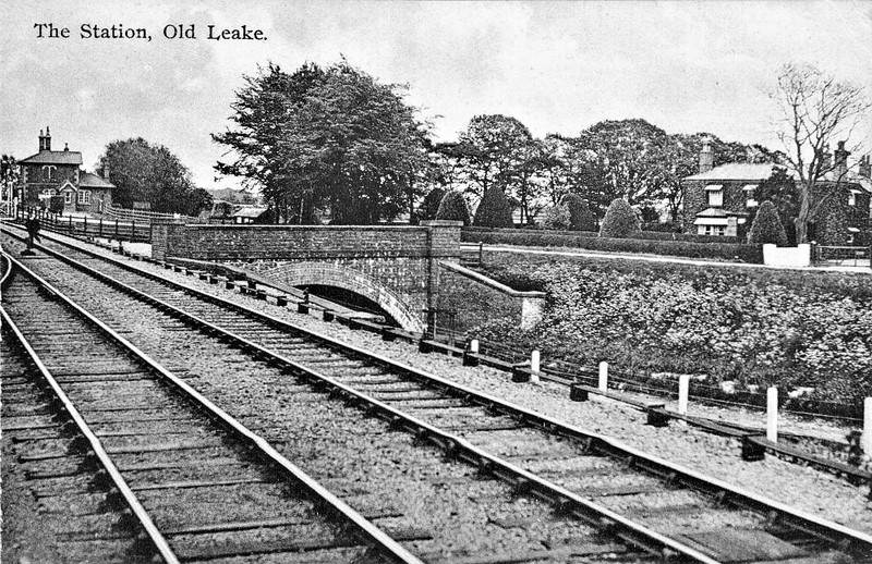 OLD LEAKE - Opened in October 1848 as Hob Hole on the East Lincolnshire Railway line between Boston and Firsby Junction. One month later, the station was renamed Leake and Wrangle and a year later Old Leake and Wrangle. By October 1852, it was just Old Leake and so it remained until closure in June 1964. The station house still stands as a private residence. I'm not at all sure what this is exactly supposed to be a picture of - it's certainly a strange shot of the station!