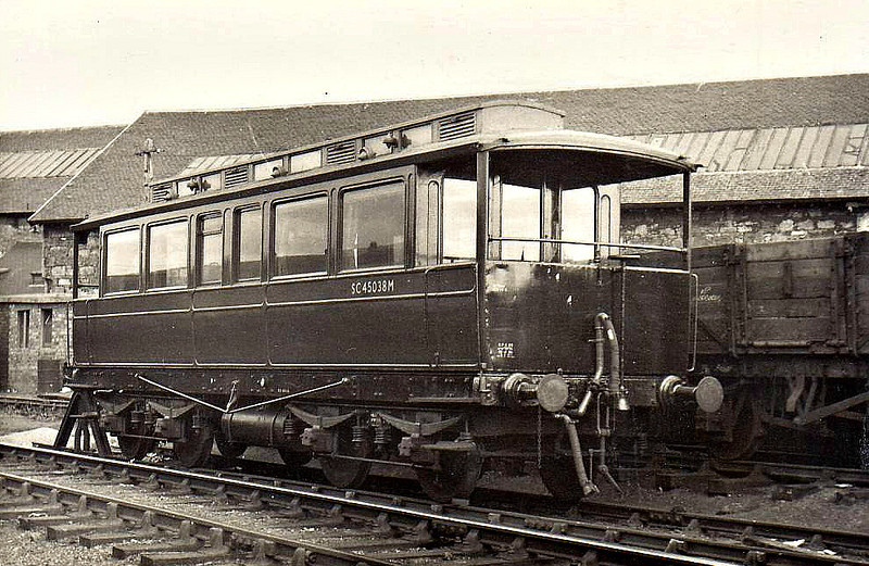 SC45048M - Lancashire & Yorkshire Railway 6-wheeled Inspection Saloon of 1883 - converted to bogies in about 1920 - seen here at Inverness, 05/36.