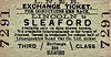 LNER TICKET - LINCOLN - Third Class Bus Exchange Ticket to Sleaford - I presume that these were issued to cover periods when trains were not running for some reason.