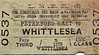 BRITISH RAILWAYS TICKET - PETERBOROUGH EAST to WHITTLESEA - Third Class Single, fare 11d - dated April 5th, 1945.