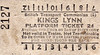 BRITISH RAILWAYS TICKET - KINGS LYNN - Platform Ticket, fare 2d.