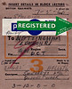 WAGON LABEL - British Railways label for a consignment of fruit I would guess from Spalding to Smedleys in Nottingham in May 1960. I think the number at the bottom are weight of the load - 3 tons and 12 hundredweights.