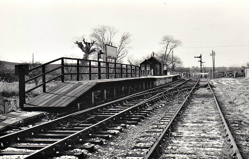 NEWCHURCH RAILWAY STATION - built by the Isle of Wight & Newport Junction Railway in 1875 on the line from Newport to Sandown. It consisted of a single platform with a single goods siding and was closed in 1956. Nothing now remains.