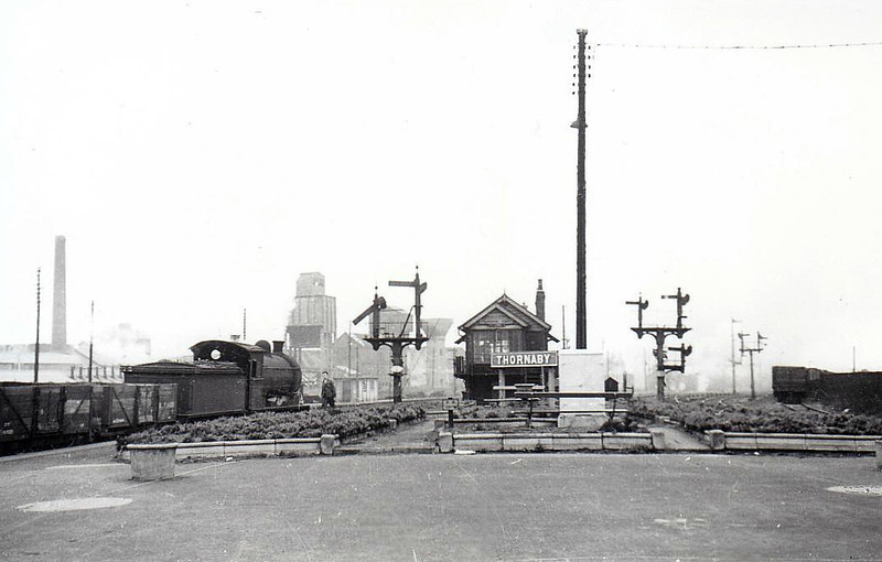 THORNABY STATION - situated just to the west of Thornaby Locomotive Depot, the station lies on the main east-west routes south of the Tees - seen here in April 1954.