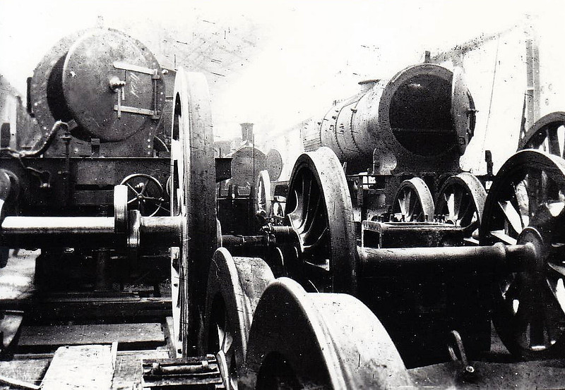 PLAISTOW WORKS - a view of locomotives in the erecting shop at the LTSR's Works at Plaistow in about 1901.