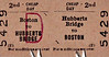 BRITISH RAILWAYS TICKET - HUBBERTS BRIDGE - Second Class Cheap Day Return to Boston - clipped but undated - this is a journey of only one station.