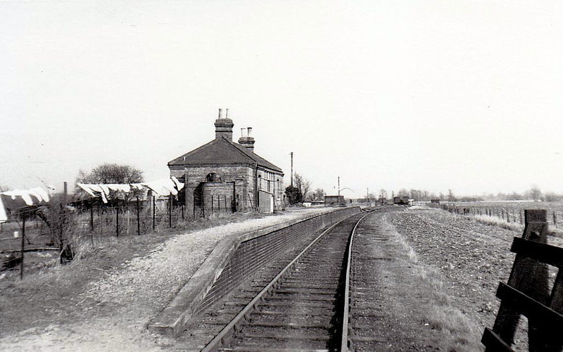 ABBEY & WEST DEREHAM - Usually known just as Abbey, on the line from Downham Market to Stoke Ferry in Norfolk. If it looks a bit windblown and desolate, that's because it is. Opened in 1882 as Abbey, it became Abbey for West Dereham in 1886 and Abbey & West Dereham in 1923, closing in 1930 to passengers. The line was closed in the 1960's.