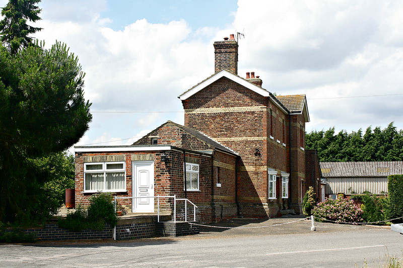 POSTLAND - The quite substantial station building at Postland on the old GN/GE mainline from March to Spalding. The station closed in September 1961 and the line in November 1982. The building has been nicely restored as a private residence - seen here 05/07/17.