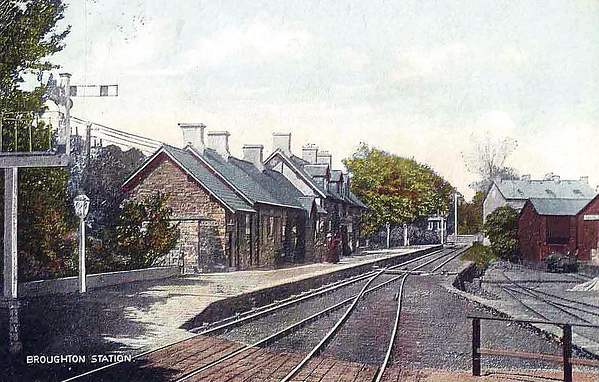 BROUGHTON IN FURNESS - Located on the Coniston bracnch, the station opened in 1848 as a terminus, the extension to Coniston opening in June 1859. In October 1958, the branch closed to passengers and to freight in April 1962, although the buildings still stand.
