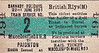 BRITISH RAILWAYS TICKET - MACCLESFIELD HIBEL ROAD to PAIGNTON - Issued by Barnaby Holidays, this is not a ticker to travel, which had to be bought separately, but guarantees the passenger a seat on Train No.2 on June 22nd, 1951.
