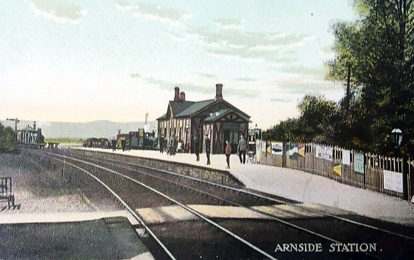 ARNSIDE - Opened in 1858 by the Ulverstone & Lancaster Railway on the Carlisle to Lancaster coastal route, the station was, until 1972, the junction for the Sandside branch, passenger trains departing from behind the platform on the left until 1942, when services ceased. The station has an hourly service today and handles over 100,000 passengers per year.