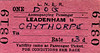 LNER TICKET - LEADENHAM - Dog Accompanying Passenger to Caythorpe, fare 3d - dated November 16th, 1960.