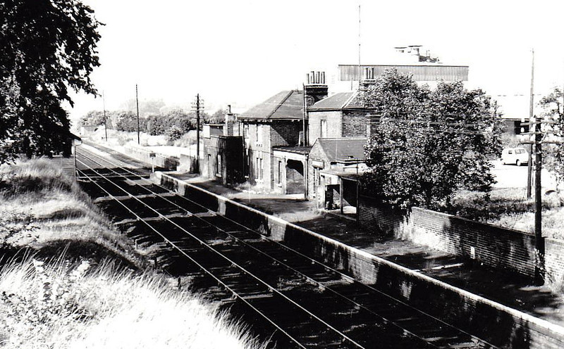 KENNETT - opened in 1854 and lying between Newmarket and Bury St Edmunds in Suffolk - the station closed for good traffic in 1965 but remains open for passengers.