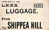 LNER LUGGAGE LABEL - SHIPPEA HILL - pint date 10/27, print run 5000 - a bit optimistic, I think. I doubt if as many as 5000 passengers have ever used Shippea Hill Station since it opened!
