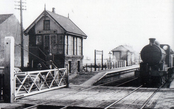LUDBOROUGH - On the line from Grimsby to Louth, opened in 1848, closed to passengers in 1961 and completely in 1964, looking pretty desolate. However, it is now the base of the Lincolnshire Wolds Railway and sees plenty of activity. Seen here in LNER days.