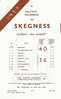 LNER HANDBILL - HALF=DAY EXCURSION TO SKEGNESS - On Sunday, August 14th, 1932, an excursion was to be run from Essendine (10.55)  to Skegness calling at Braceborough Spa (11.00), Thurlby (11.05), Bourne (11.17), Morton Road (11.23), Rippingale (11.29), Billingborough (11.37), Aswarby (11.46), arriving in Skeggie at 1.09pm a,d returning at 7.00pm. Purchase of tickets in advance at very reasonable fares is recommended. If the entire population of all these places had turned up at the station, there would barely have been a train load!