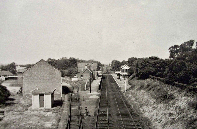 WENDLING - Opened in September 1848, Wendlng Station lay between Fransham and Scarning, just west of Dereham. It closed in September 1968 and now lies beneath the Dereham Bypass, a fate that befell many old railway formations.
