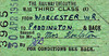 BRITISH RAILWAYS TICKET - WORCESTER - Third Class Return Staff Pass to Paddington, issued to Mr & Mrs Houlston on April 30th, 1951.