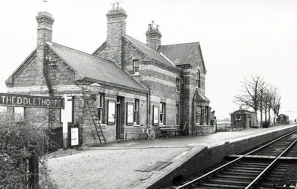 THEDDLETHORPE - Opened in October 1877 on the Mablethorpe Loop by the GNR, Theddlethorpe was the first station north of Mablethorpe. In May 1960 the northern arm of the Loop was closed entirely but the station and platforms survive in private use.