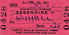 LNER TICKET - ESSENDINE - Dog accompanying a passenger to Ryhall (& Belmisthorpe) - fare 2d - dated April 25th, 1959. The line closed on June 5th, 1959.