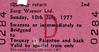 BR EDMONDSON TICKET - BORG WARNER LTD. - SWANSEA to TORQUAY/PAIGNTON - Works Outing run on July 10th, 1977.