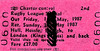 BR EDMONDSON TICKET - RUGBY LEAGUE CUP FINAL - HULL, HESSLE & BROUGH - Second Class Special Return to Kings Cross, out on May 1st and return on May 3rd, 1987, fare £27. The match was between Halifax and St Helens and Halifax won 19 - 18. Specimen ticket.