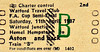 BR EDMONDSON TICKET  - FA CUP SEMI FINAL - TOTTENHAM HOTSPUR versus WATFORD, April 11th, 1987. Organised by the Watford FC Travel Club, at least two trains went from Watford Junction to Aston, to see their club lose 4 - 1. I think this is specimen ticket.