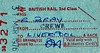 BR EDMONDSON TICKET - STAFF PASS FROM CREWE TO LIVERPOOL - issued to Mr Bray on March 31st, 1976.