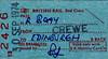 BR EDMONDSON TICKET - STAFF PASS FROM CREWE TO EDINBURGH - issued to Mr Mason on September 30th, 1974.
