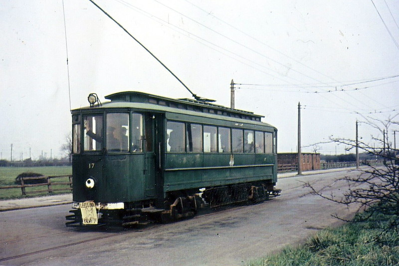 No.17 - one of 19 cars bought in 1951 from Gateshead & District Tramways when that system closed - scrapped when the railway closed in July 1961.
