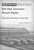 OPEN DAY - OLD OAK COMMON DIESEL DEPOT, 1967 (4) - Front cover of the Souvenir Programme, price 1/-! The locos are D1718, D6353, a Western and D7085. Quite professionally produced.