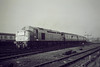 RAIL TOUR - 'WHISTLER FINALE' - organised by TP Railtours and run on March 9th, 1985. 40122, ex D200, passes March South box on this tour to mark the end of Class 40 in regular traffic. The tour ran as follows:-<br /> <br /> D200 - York - Church Fenton - Micklefield - Cross Gates - Leeds - Gelderd Road Jn - Wakefield Westgate - South Kirkby Jn - Doncaster - (via ECML) - Grantham - Peterborough - Whittlesea - March - Ely - Chippenham Jn - Bury St Edmunds - Ipswich - Harwich Parkstone Quay<br /> - Manningtree - Colchester - Chelmsford - Stratford - approx 1/4 mile short of London Liverpool Street (to avoid run round in station and allow D200 to go for fuel).<br /> 31225 - approx 1/4 mile short of London Liverpool Street - London Liverpool Street<br /> D200 - London Liverpool Street - Bethnal Green - Hackney Downs - Clapton Jn - Cheshunt - Broxbourne - Cambridge - Ely - (reverse of outward route) - Grantham (missed Grantham stop and had to reverse about 1 mile) - (reverse of outward route) - York.