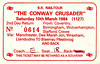 RAIL TOUR - 'THE CONWAY CRUSADER' - Organised by British Railways to run on March 10th, 1984, this tour ran as follows:<br /> <br /> 86317 Coventry - Birmingham New Street - Crewe - Manchester Piccadilly <br /> 40029 Manchester Piccadilly -  Skelton Jn - Arpley - Hooton - Birkenhead Docks - Wrexham General - Chester <br /> 40122 Chester - Llandudno Junction - Llandudno <br /> 50018 Llandudno - Llandudno Junction - Blaneau Ffestiniog <br /> 50018 + 40047 Blaneau Ffestiniog - Llandudno Junction <br /> 50018 Llandudno Junction - Chester - Crewe - Birmingham New Street - Coventry.