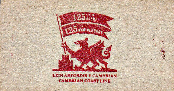 OPEN DAY - BARMOUTH, 1992 - Exhibition held at Barmouth Station over the weekend of October 10/11th, 1992, to celebrate 125 years of the Cambrian Coast Line. I have been unable to find any details of what was on display. Reverse side of the ticket.
