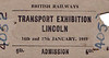 OPEN DAY - LINCOLN TRASNPORT EXHIBITION - Apart from the fact that it was held on January 16/17th, 1959, I can find nothing out about this event.
