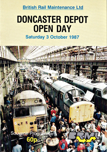 OPEN DAY - DONCASTER WORKS, 1987 (1) - Open Day held on Saturday, October 3rd, 1987. 47522 was named DONCASTER ENTERPRISE on the day. Locos present were :-<br /> <br /> Diesel<br /> <br /> 08272/514/538/562/783/802/809/875/877/922<br /> 20070/119/163/191<br /> 31105/112/176/232/242/404/418/440/454<br /> 37004/218<br /> 43040<br /> 46010<br /> 47207/301/522/526<br /> 56006/014/082/118<br /> 58020/047<br /> <br /> Steam<br /> <br />  Class A4 4-6-2 4468 MALLARD<br />  Class 9F 2-10-0 92220 EVENING STAR<br /> <br /> DMU<br /> <br /> 51060/088/343/370/385/396/412/872/919<br /> 53305/321/616<br /> 54194/209<br /> 55020/028<br /> 55638/706/752/778<br /> 59115/419/495/522/536/740/747