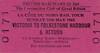 RAIL TOUR - 'LA COTE DU NORD' - This tour, run by LCGB, was postponed until September 29th due to industrial action in France. The original tickets were still valid on the later train. This ticket just covers the UK leg of the tour. It ran as follows:-<br /> <br /> 4CEP+4BEP+4CEP - London Victoria - Brixton - Herne Hill - Beckenham Junction - Bromley South - Swanley- Chatham - Sittingbourne - Canterbury East - Aylesham - Dover Marine<br /> <br /> St Patrick (Ferry)-Dover - Calais<br /> <br /> 231K82 - Calais Maritime - Calais Ville - Frethun-les-Calais - Caffiers - Marquise-Rinxent - Aubengue - Boulougne-Tintelleries - Boulougne-Ville - Pont-de-Briques - Neufchatel - Etaples - Conchil-le-Temple - Rue - Noyelles - Abbeville<br /> 141R500 - Abbeville - Cambron-Laviers - Cahon - (3) Acheux-Franleu - Chepy-Valines - Woincourt - Eu - Le Treport Mers<br /> 141R60 - Le Treport Mers - (reverse of outward route) - Abbeville<br /> 231K82 - Abbeville - (reverse of outward route) - Calais Ville<br /> 050TQ25 - Calais Ville - Calais Maritime<br /> <br /> St Patrick (Ferry)-Calais - Dover<br /> <br /> 4CEP+4BEP+4CEP - Dover Maritime - Folkestone East - Ashford - Paddock Wood - Tonbridge - Sevenoaks - Orpington - Hither Green - New Cross - London Bridge - Waterloo East - London Charing Cross