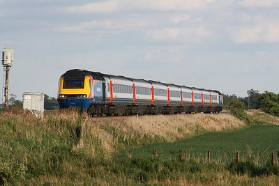 RAIL TOUR - 'MID-NORFOLK MARAUDER' - organised by East Midlands Trains and run on May 14th, 2011. 43082 heads the return leg of the 'Mid Norfolk Marauder'. The tour ran as follows and included return trips over the Mid-Norfolk Railway:-  43082 t/t 43075 - London St Pancras - (via MML) - Syston South Jn - Melton Mowbray - Oakham - Stamford - Peterborough - Whittlesea - March - Ely West Jn - Ely North Jn - Ely 43075 t/t 43082 - Ely - Ely North Jn - Thetford - Wymondham 43082 t/t 43075 - Wymondham - Thuxton - Dereham 43075 t/t 43082 - Dereham - Thuxton - Wymondham - Norwich 43082 t/t 43075 - Norwich - Wymondham - Thetford - Ely North Jn - Ely West Jn - (reverse of outward route) - London St Pancras