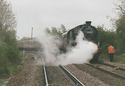 RAIL TOUR - 'LINCOLN EXPLORER' - organised by the Railway Touring Company and run on  May 1st, 2006. 61264 has received a signal check at Badgeney Road AHB, normal procedure to ensure that the train is going slowly when it passes March South signalbox! The tour ran as follows:-  61264 - Norwich - Wymondham - Brandon - Ely North Jn - Ely West Jn - March - Whittlesea - Peterborough - Peterborough Yard - New England North Jn - Werrington Jn - Spalding - Sleaford - Metheringham - Lincoln Central 33025 - Lincoln Central - (reverse of outward route) - Norwich