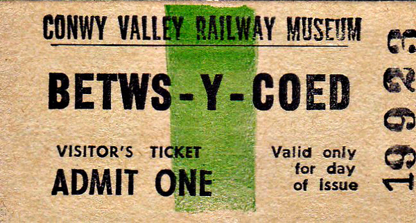 OPEN DAY - CONWY VALLEY RAILWAY MUSEUM - Located at Betwys-y-Coed Station, in the old goods yard, the museum features mainly small items of railway interest. There is also a miniature steam railway and a miniature tramcar line. There are also a number of coaches and wagons put to various uses.