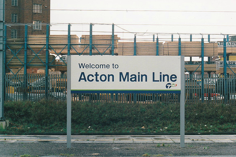 ACTON MAIN LINE - but no mainline trains stop there, just the Thames Trains local services. I was there on March 30th, 1999.