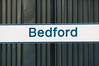 BEDFORD - A more conventional version of the sign at Bedford Station - I was there on August 21st, 1998.
